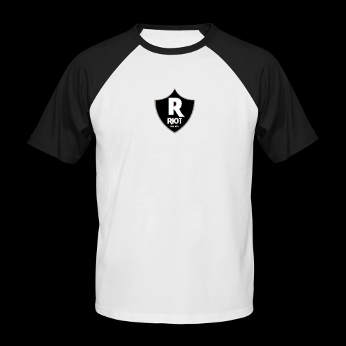riot Nation logo schwarz - Männer Baseball-T-Shirt