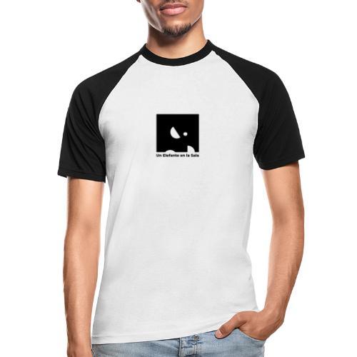 Logo Elefante Negro - Camiseta béisbol manga corta hombre