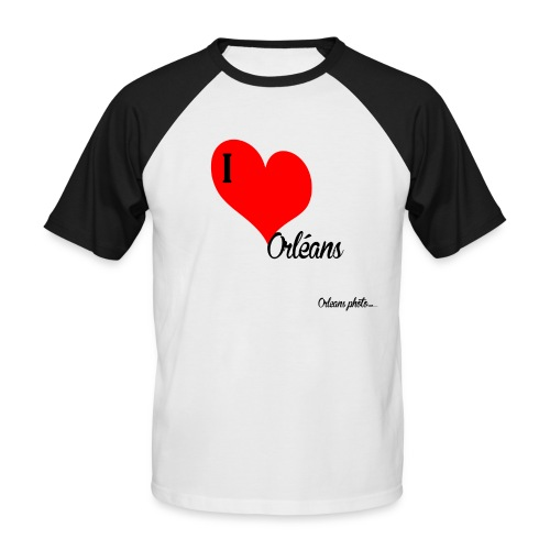 Iloveorléans png - T-shirt baseball manches courtes Homme