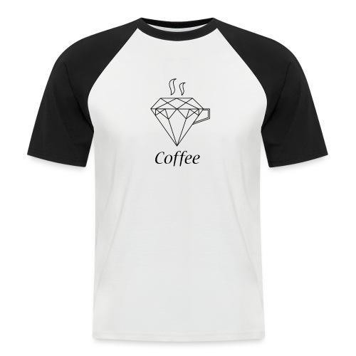 Coffee Diamant - Männer Baseball-T-Shirt