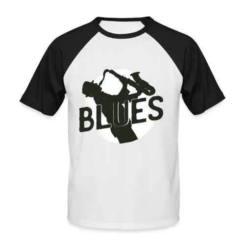 Bestes Blues Design online - Männer Baseball-T-Shirt