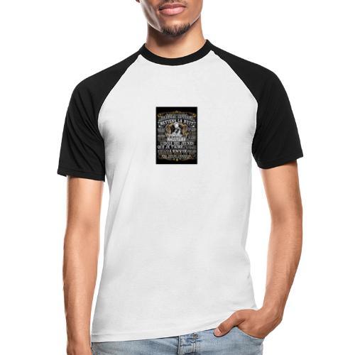 Johnny hallyday diamant peinture Superstar chanteu - T-shirt baseball manches courtes Homme