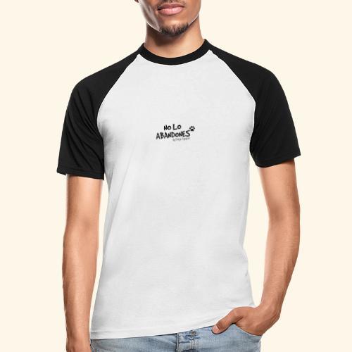 noloabandones negro - Camiseta béisbol manga corta hombre