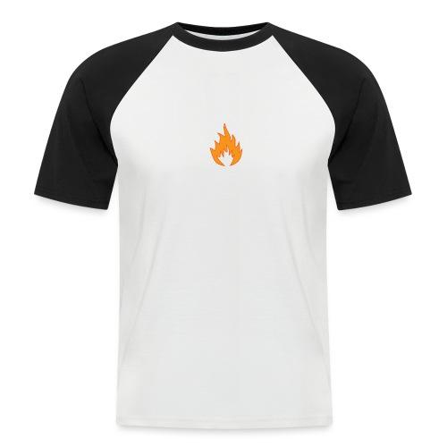 Flame BLACK - T-shirt baseball manches courtes Homme