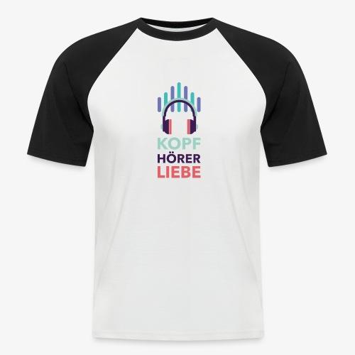 kopfhoererliebe bunt - Männer Baseball-T-Shirt