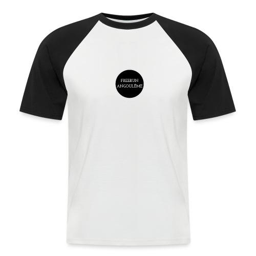 freerun noir logo - T-shirt baseball manches courtes Homme