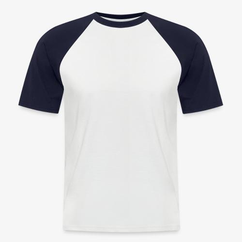 thiccc text logo WHITE - Men's Baseball T-Shirt