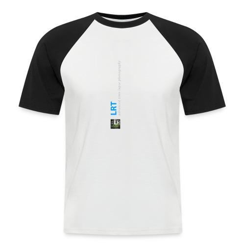 LRTImelapse Shirt Logo Vorne Hoch breiter3 png - Männer Baseball-T-Shirt