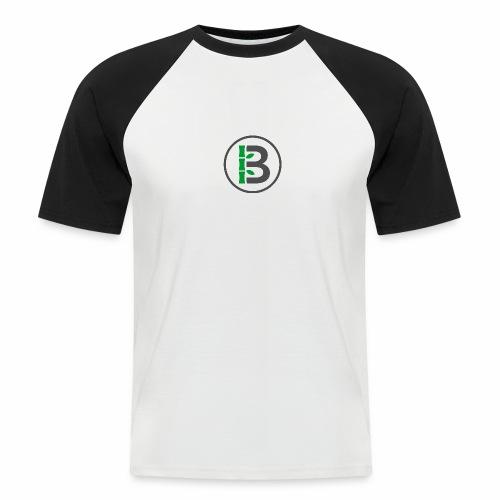 Biomboo Logo Circle Charcoal - Men's Baseball T-Shirt