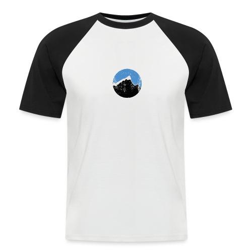 Årgangs - Kortermet baseball skjorte for menn