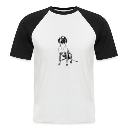 RR sitzend farblos - Männer Baseball-T-Shirt