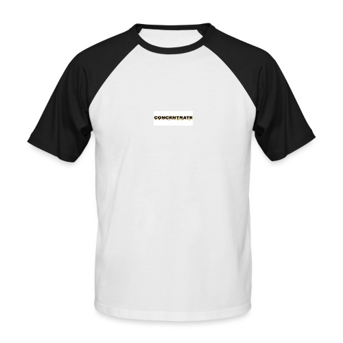 Concentrate on white - Men's Baseball T-Shirt