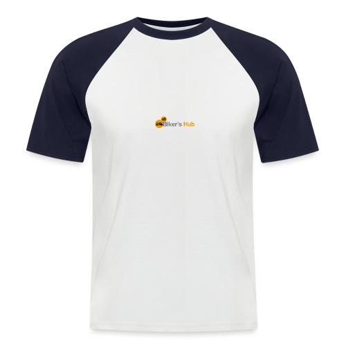 Biker's Hub Small Logo - Men's Baseball T-Shirt