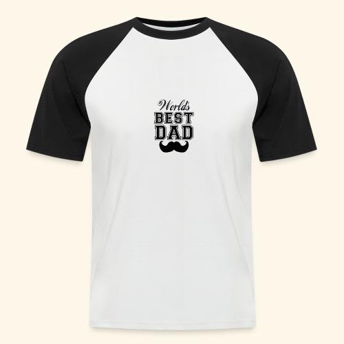 Worlds best dad - Kortærmet herre-baseballshirt