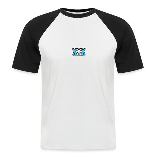 XXX (Blue + White) - Men's Baseball T-Shirt