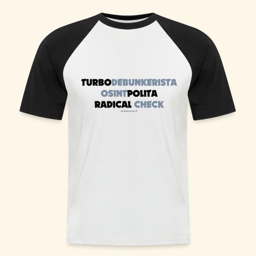 Turbodebunker - Maglia da baseball a manica corta da uomo