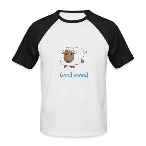 Nadège le petit mouton blanc - T-shirt baseball manches courtes Homme