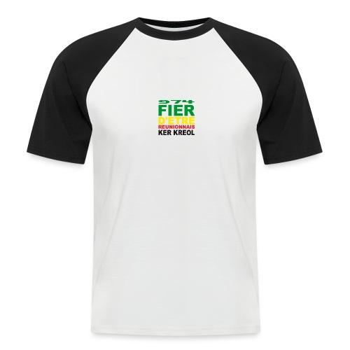 Logo fier d'etre kreol 974 ker kreol - Rastafari - T-shirt baseball manches courtes Homme