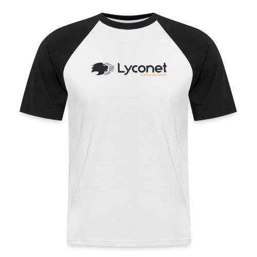 Lyconet White - Maglia da baseball a manica corta da uomo