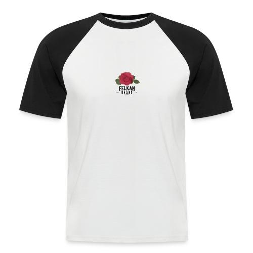 Felkan Brand: Rose Print Black - Kortärmad basebolltröja herr