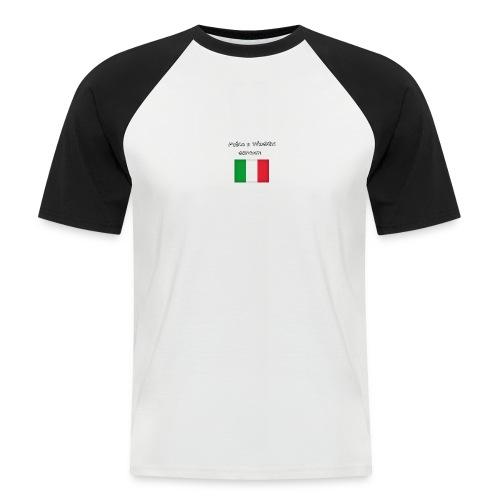 Włosko-polska - Koszulka bejsbolowa męska