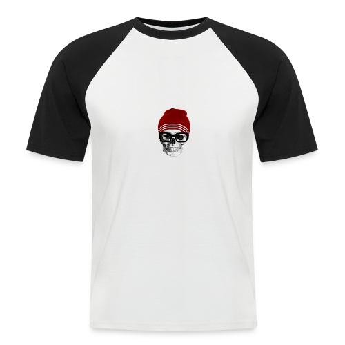 Tête de mort tendance - T-shirt baseball manches courtes Homme