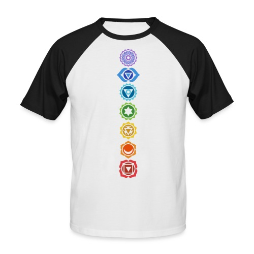 The 7 Chakras, Energy Centres Of The Body - Men's Baseball T-Shirt