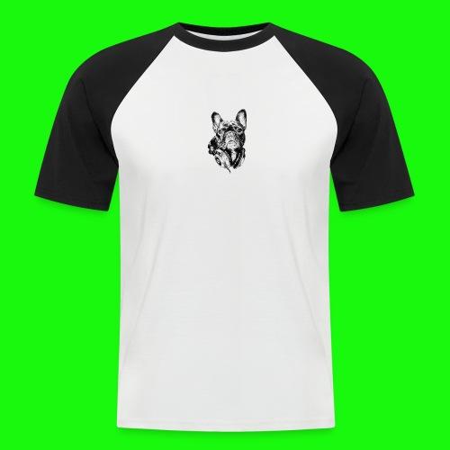 Small_Dog-_-_Bryst_- - Kortærmet herre-baseballshirt