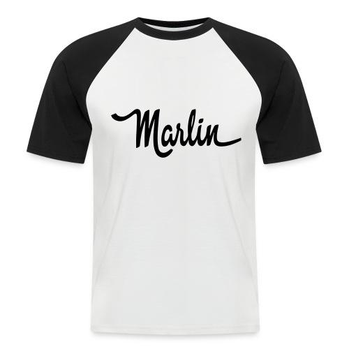ramblermarlinscript01a - Kortermet baseball skjorte for menn