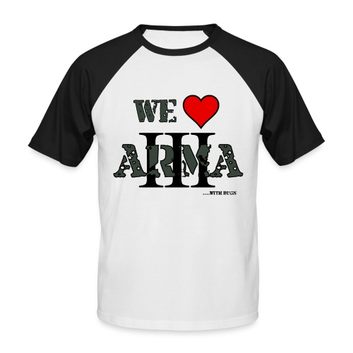 we love arma 3 - Männer Baseball-T-Shirt