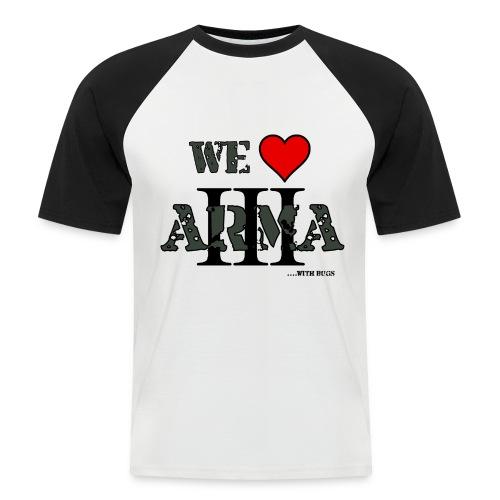 we love arma 3 - Männer Baseball-T-Shirt