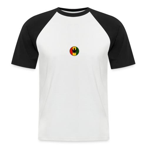 weed logo - Kortærmet herre-baseballshirt