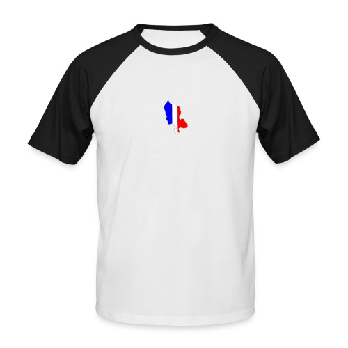 Carte Territoire de Belfort bleu blanc rouge - T-shirt baseball manches courtes Homme
