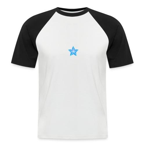 blue themed christmas star 0515 1012 0322 4634 SMU - Men's Baseball T-Shirt