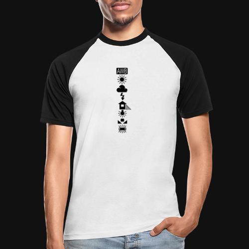 Weissabgleich Symbole Vertikal - Männer Baseball-T-Shirt
