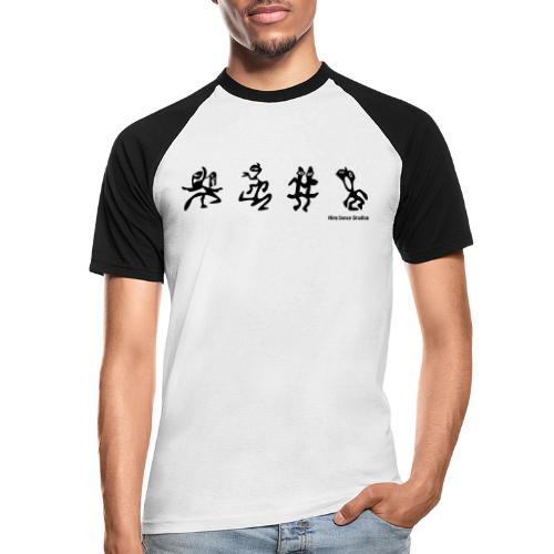 Dance_art - Kortærmet herre-baseballshirt