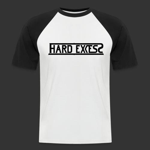 HARD EXCESS Logo schwarz - Männer Baseball-T-Shirt