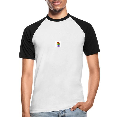 Lgbt Faust Protest weißer Hintergrund - Männer Baseball-T-Shirt