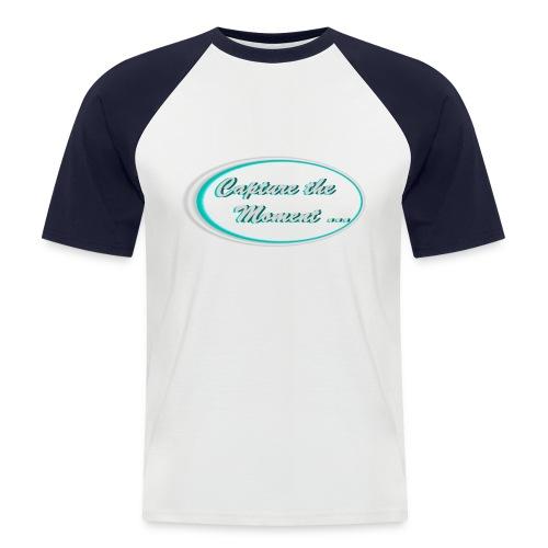 Logo capture the moment photography slogan - Men's Baseball T-Shirt
