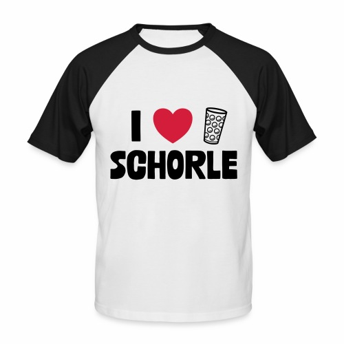 I love Schorle & Dubbeglas - Männer Baseball-T-Shirt