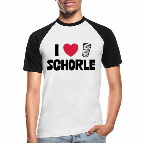 I love Schorle & Dubbe Schobbe - Männer Baseball-T-Shirt