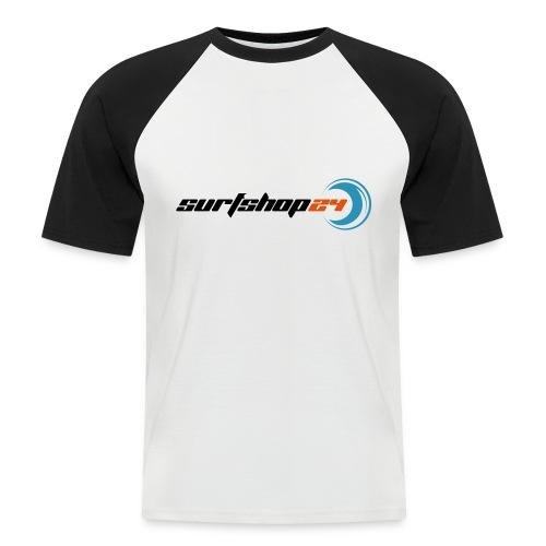 surfshop24vektorisiertoutline - Männer Baseball-T-Shirt
