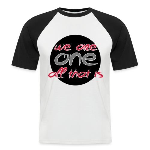 We are all ONE - Kortærmet herre-baseballshirt