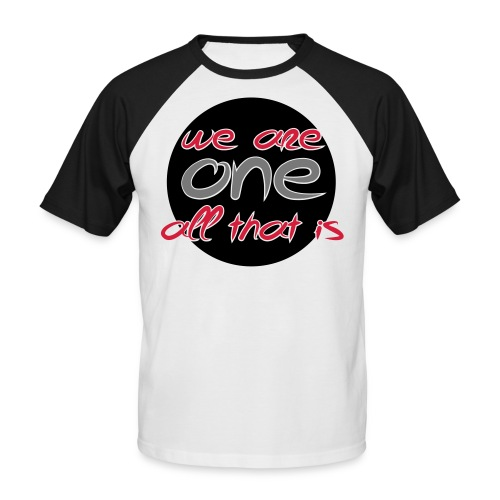 We are all ONE - Kortærmet herre-baseballshirt
