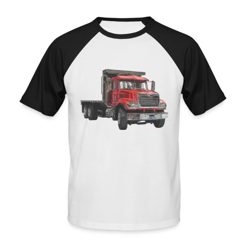 Flat Truck 3-axle - Red - Men's Baseball T-Shirt