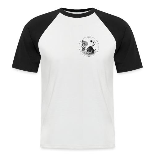 T-Shirt Noir et Blanc Wa Jun Do - T-shirt baseball manches courtes Homme