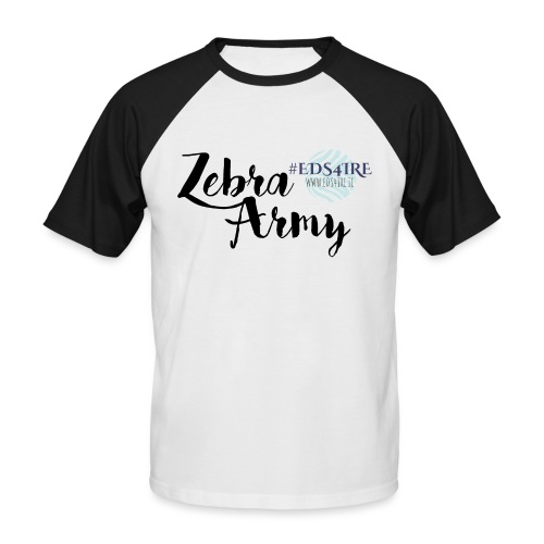 Zebra Army (black) - Men's Baseball T-Shirt