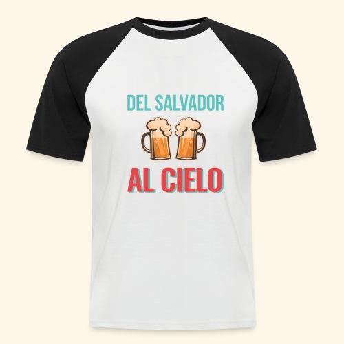Cervecita en el Salvador - Camiseta béisbol manga corta hombre