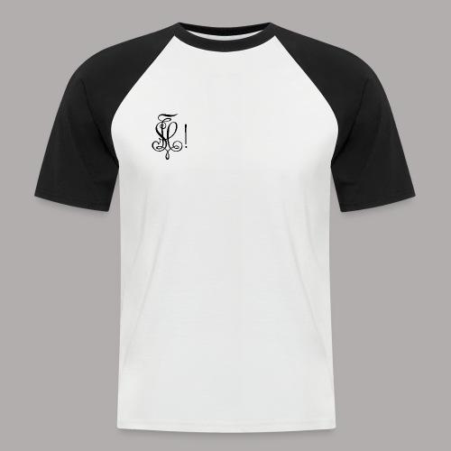 Zirkel, schwarz (vorne) - Männer Baseball-T-Shirt