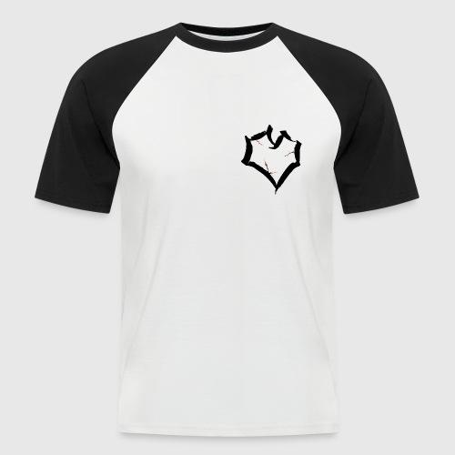 cracked heart - Mannen baseballshirt korte mouw